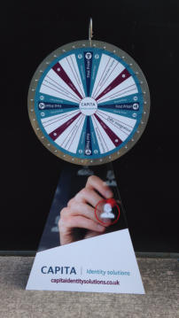 branded wheel of fortune